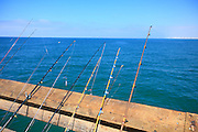 Fishing Poles On The San Clemente Pier