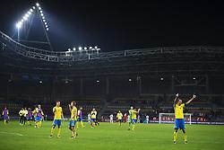 September 3, 2017 - Barysaw, BELARUS - 170903 Sveriges spelare med Andreas Granqvist jublar och tackar publiken efter VM-kvalmatchen i fotboll mellan Belarus och Sverige den 3 september 2017 i Barysaw  (Credit Image: © Joel Marklund/Bildbyran via ZUMA Wire)