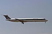 Italy, Milan, Linate Airport, Alitalia passenger jet at landing