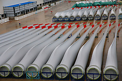 September 5, 2017 - Nantong, China - Blades for wind turbines are seen in a factory as the wind power generation industry booms in Nantong, east China's Jiangsu Province. (Credit Image: © SIPA Asia via ZUMA Wire)