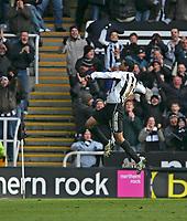 Photo: Andrew Unwin.<br />Newcastle United v Bolton Wanderers. The Barclays Premiership. 04/03/2006.<br />Newcastle's Nolberto Solano celebrates scoring his team's first goal.