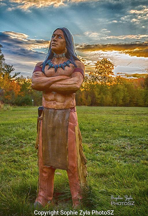 Native American at Sunset in Bethlehem