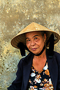 Noodle seller, in the Imperial city of Hue