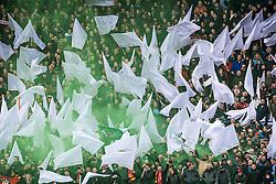 25-02-2017 NED: Feyenoord - PSV, Rotterdam<br /> 24e speelronde van seizoen 2016-2017, De Kuip / Feyenoord support publiek maken er een feestje van. Rook, sfeer
