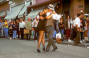 ARGENTINA, BUENOS AIRES San Telmo, area famous for its Sunday antique market, cafes and outdoor tango demonstrations