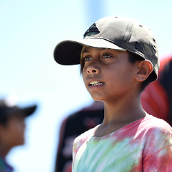 BRISBANE, AUSTRALIA - MARCH 18: A child looks on during the NRL Development Junior Clinic and QRL training session at Ron Stark Oval on March 18, 2017 in Brisbane, Australia. (Photo by Patrick Kearney/Wynnum Manly Seagulls)