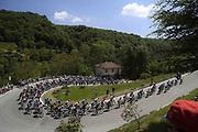 Foto Fabio Ferrari /LaPresse <br /> 28 maggio 2021 Italia<br /> Sport Ciclismo<br /> Giro d'Italia 2021 - edizione 104 - Tappa 19 - Da Abbiategrasso a Alpe Di Mera (Valsesia) (km 176)<br /> Nella foto: panoramica <br /> <br /> Photo Fabio Ferrari /LaPresse <br /> May 28, 2021  Italy  <br /> Sport Cycling<br /> Giro d'Italia 2021 - 104th edition - Stage 19 - from Abbiategrasso to Alpe Di Mera <br /> In the pic:  during the race