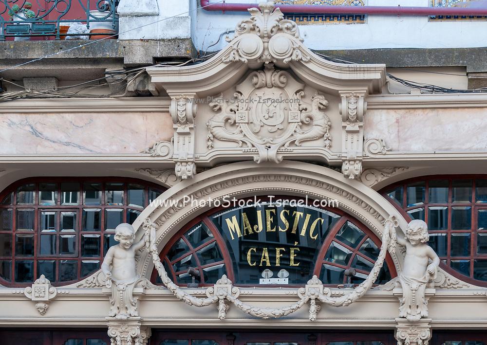 Majestic Cafe historic landmark in Rua de Santa Catarina, Porto, Portugal