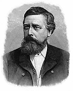 Wilhelm Liebknecht (1826-1900) German social democrat. Took part in Baden Insurrection 1848-1849 and fled into exile. Elected to Reichstag 1867. Engraving.