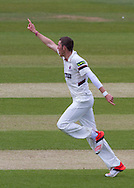 Craig Overton (Somerset County Cricket Club)celebrates after taking a wicket during the LV County Championship Div 1 match between Durham County Cricket Club and Somerset County Cricket Club at the Emirates Durham ICG Ground, Chester-le-Street, United Kingdom on 8 June 2015. Photo by George Ledger.