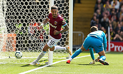 West Ham United's Manuel Lanzini celebrates scoring their second goal during the Premier League match at Vicarage Road, Watford.