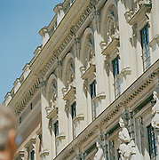Detail of the architecture of the Royal Palace. Stockholm, Sweden