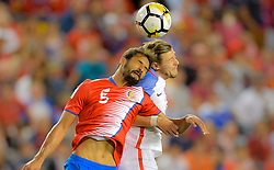 September 1, 2017 - Harrison, NJ, USA - Harrison, N.J. - Friday September 01, 2017:   Celso Borges, Paul Arriola during a 2017 FIFA World Cup Qualifying (WCQ) round match between the men's national teams of the United States (USA) and Costa Rica (CRC) at Red Bull Arena. (Credit Image: © John Todd/ISIPhotos via ZUMA Wire)