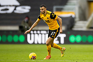 Romain Saiss (27) of Wolverhampton Wanderers during the Premier League match between Wolverhampton Wanderers and West Bromwich Albion at Molineux, Wolverhampton, England on 16 January 2021.