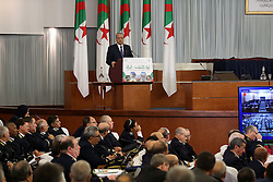 November 12, 2016 - Abed el Malek Sellal Prime Minister speaks at the opening of the Government-Walis meeting at the Palais des Nations. Algiers on 12/11/2016  (Credit Image: © Billal Bensalem/NurPhoto via ZUMA Press)