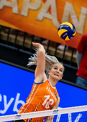 15-10-2018 JPN: World Championship Volleyball Women day 16, Nagoya<br /> Netherlands - USA 3-2 / Marrit Jasper #18 of Netherlands