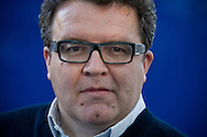 British parliamentarianTom Watson MP, pictured at the Edinburgh International Book Festival where he talked about his book entitled 'Dial M for Murdoch' about NewsCorp and the phone-hacking scandal. The three-week event is the world's biggest literary festival and is held during the annual Edinburgh Festival. The 2012 event featured talks and presentations by more than 500 authors from around the world.