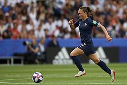 June 28, 2019 - Paris, France - Sakina Karchaoui (Montpellier HSC) of France during the 2019 FIFA Women's World Cup France Quarter Final match between France and USA at Parc des Princes on June 28, 2019 in Paris, France. (Credit Image: © Jose Breton/NurPhoto via ZUMA Press)