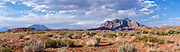 Panoramic image of Mt. Ellsworth (center right) taken from near Ticaboo, Utah.