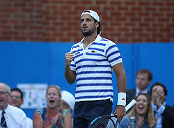 Spain's Feliciano Lopez reacts during day five of the 2017 AEGON Championships at The Queen's Club, London.