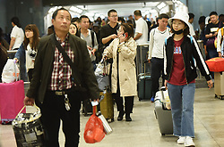 October 8, 2018 - Hangzhou, Hangzhou, China - Hangzhou, CHINA-Numerous tourists can be seen at the Hangzhou East Railway Station at the end of National Day Holiday in Hangzhou, east China's Zhejiang Province, October 7th, 2018. (Credit Image: © SIPA Asia via ZUMA Wire)