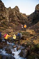 Reykjadalur Hike to the hot springs Iceland. ©2019 Karen Bobotas Photographer