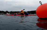 Passing Lillesand by kayak