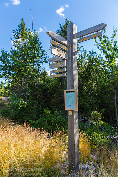 Bike trails near Schoodic Woods in Maine's Acadia National Park.