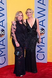 November 2, 2016 - Nashville, Tennessee, USA - Sharon Stone and Kelly Stone on the red carpet at the 50th Annual CMA Awards that took place at the Bridgestone Arena in downtown Nashville, Tennessee. (Credit Image: © Jason Walle via ZUMA Wire)