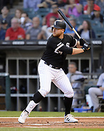 CHICAGO - JULY 24:  AJ Reed #24 of the Chicago White Sox bats against the Miami Marlins on July 24, 2019 at Guaranteed Rate Field in Chicago, Illinois.  (Photo by Ron Vesely)  Subject:   AJ Reed
