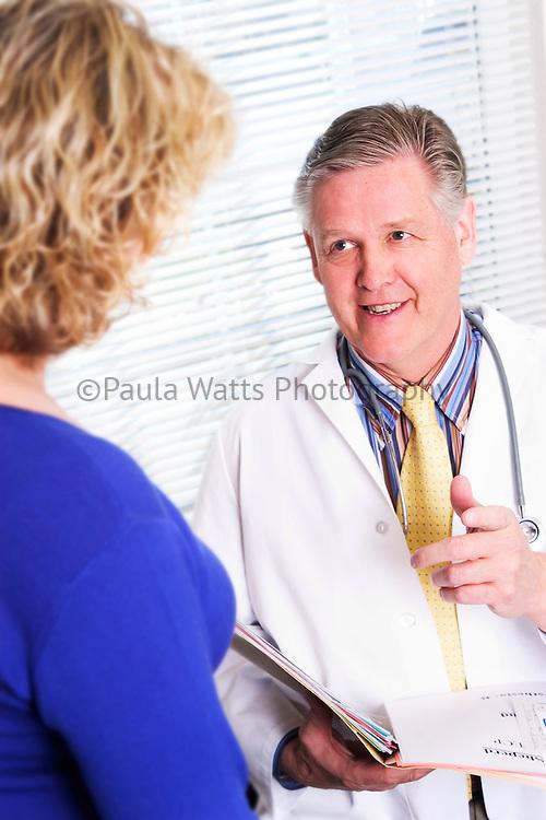 Doctor and Patient, Redmond Eye Surgery Institute, Redmond, Oregon