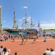 Dance performance by Australian aborigines at Inner Harbor, Baltimore