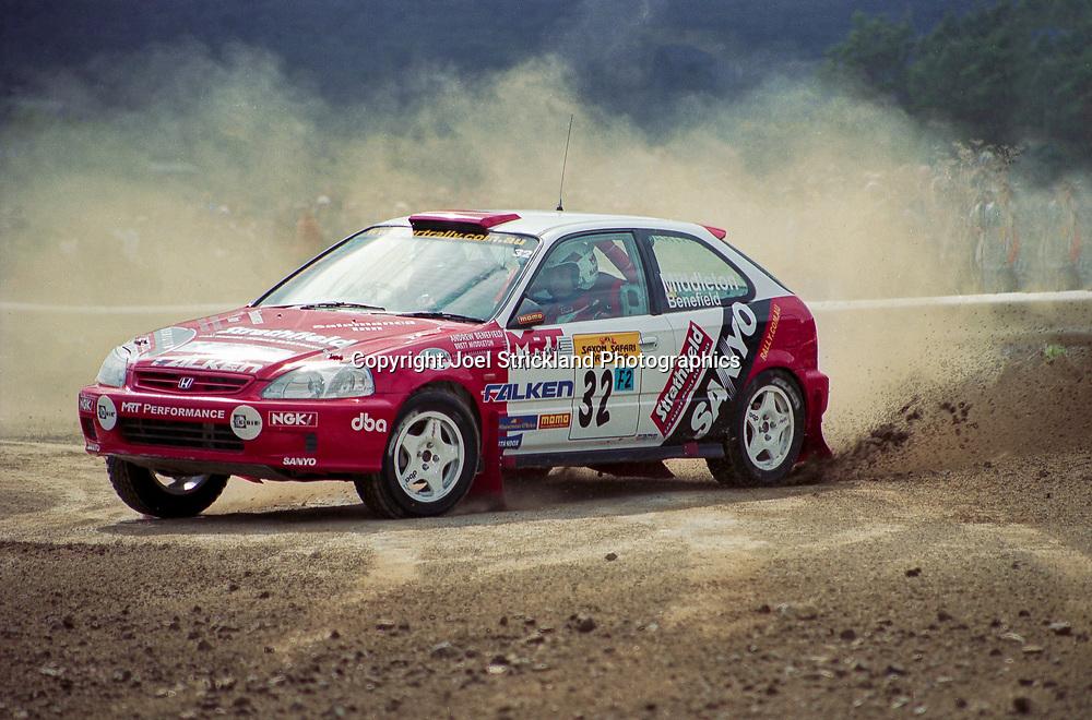 Brett Middleton & Andrew Benefield – Honda Civic VTi - Saxon Safari Tasmania - ARC- 11th-12th September 1999