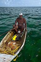 Lobster fisherman in Belize