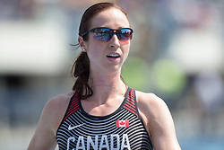 August 12, 2018 - Toronto, ON, U.S. - TORONTO, ON - AUGUST 12: Nicole Sifuentes (Canada), 1500m at the 2018 North America, Central America, and Caribbean Athletics Association (NACAC) Track and Field Championships on August 12, 2018 held at Varsity Stadium, Toronto, Canada. (Photo by Sean Burges / Icon Sportswire) (Credit Image: © Sean Burges/Icon SMI via ZUMA Press)