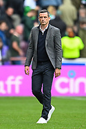 Hibernian FC manager, Jack Ross after the final whistle of  the Cinch SPFL Premiership match between Heart of Midlothian and Hibernian at Tynecastle Park, Edinburgh, Scotland on 12 September 2021.