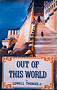 Out of this World, Lowell Thomas Jr., Monk walks up steps of Potala palace, Lhasa, Tibet, Travel Book Club, London, 1952