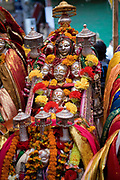 A shrine during a musical and religious celebration in Manali on 27th October 2009, Himachal Pradesh, India.