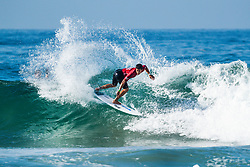 Mihimana Braye (PYF) is eliminated from the 2018 Ballito Pro pres by Billabong after placing third in Heat 4 of Round 1 at Ballito, South Africa.