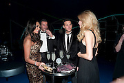 TAMARA ECCLESTONE; ROB MONTAGUE;  ANDREW DANENZA; LAUREN YEARWOOD. ; , Grey Goose character and cocktails. The Elton John Aids Foundation Winter Ball. off Nine Elms Lane. London SW8. 30 October 2010. -DO NOT ARCHIVE-© Copyright Photograph by Dafydd Jones. 248 Clapham Rd. London SW9 0PZ. Tel 0207 820 0771. www.dafjones.com.