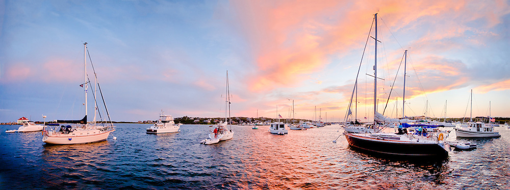 Every year my family yacht club takes an annual cruise. All the members get together and travel as a group by boat to various locations around Rhode Island, Connecticut and Massachusetts.  First stop was Cuttyhunk Island offshore of Massachusetts. That first night there was a beautiful sunset that lit up the entire harbor. It was absolutely breathtaking and every boat in the harbor had sailors aboard watching the sky and clouds as they drifted overhead.