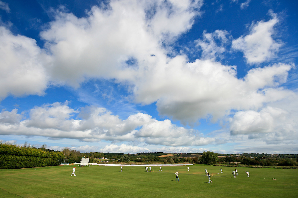 Friendly match at Brading Cricket Club, Isle of Wight