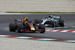 May 13, 2018 - Barcelona, Catalonia, Spain - May 13th, 2018 - Circuit de Barcelona-Catalunya, Montmelo, Spain - Race of Formula One Spanish GP 2018; Max Verstappen of RedBull Racing and Lewis Hamilton of Mercedes-AMG-Petronas Formula One Team during the Spanish GP. (Credit Image: © Eric Alonso via ZUMA Wire)