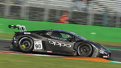 September 23, 2018 - Target Racing (Di Folco/Spinelli) at first chicane in Monza during the second qualifying session of International GT Open 2018. (Credit Image: © Riccardo Righetti/ZUMA Wire)