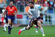 Jayden Hayward of Italy in action during the Guinness Six Nations 2020, rugby union match between Italy and Scotland, Saturday Feb. 22, 2020,in Rome, Italy. (Federico Proietti/ESPA-Images-Image of Sport)