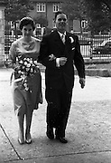 08/10/1959<br /> 10/08/1959<br /> 08 October 1959<br /> Wedding:Kenny - Colgan  (Muriel? and Tommy) at Church of St. Vincent de Paul, Griffith Avenue and the Grand Hotel, Malahide, Dublin. The Bride entering the church.