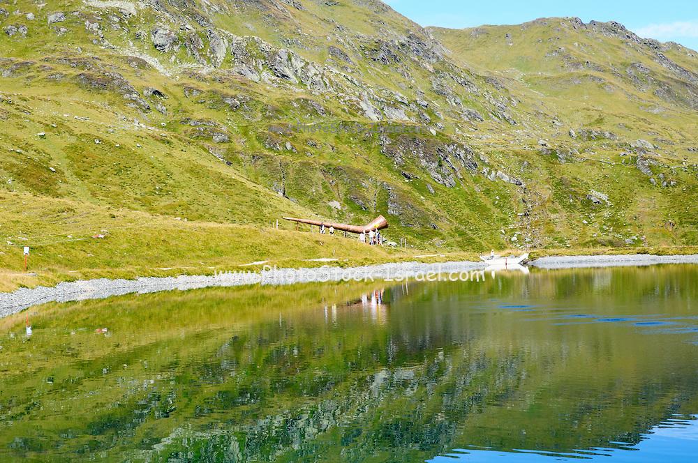 Konigsleiten mountain top. Zillertal, Tyrol, Austria. Ripples from an underwater spring can be seen