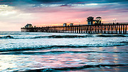 Scenic Oceanside Pier At Sunset