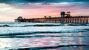 Scenic Oceanside Pier At Sunset