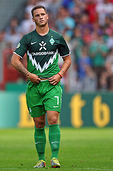 14.08.2010, Wersestadion, Ahlen, GER, Rot Weiss Ahlen vs Werder Bremen 0:4, DFB Pokal 1. Runde,  1. FBL 2010, im Bild Marko Arnautovic ( Werder #07 ) nach dem Spiel. EXPA Pictures © 2010, PhotoCredit: EXPA/ nph/  Kurth+++++ ATTENTION - OUT OF GER +++++ / SPORTIDA PHOTO AGENCY